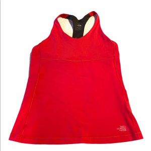The North Face Tank Top Vapor Wick Red Grey L